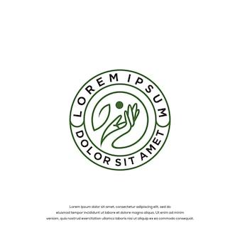Hand logo ontwerp vector sjabloon