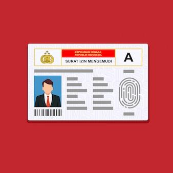 Hand met de id-kaart. vector illustratie plat ontwerp.