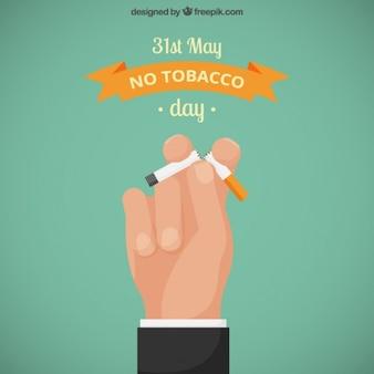 Hand met een gebroken cigarrette
