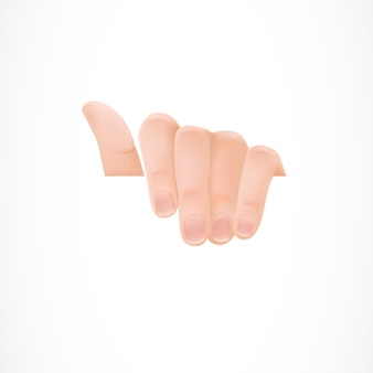 Hand met een wit papier