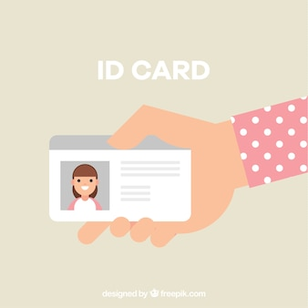 Hand met id-kaart