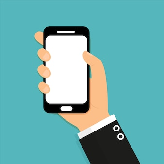Hand met slimme telefoonillustratie