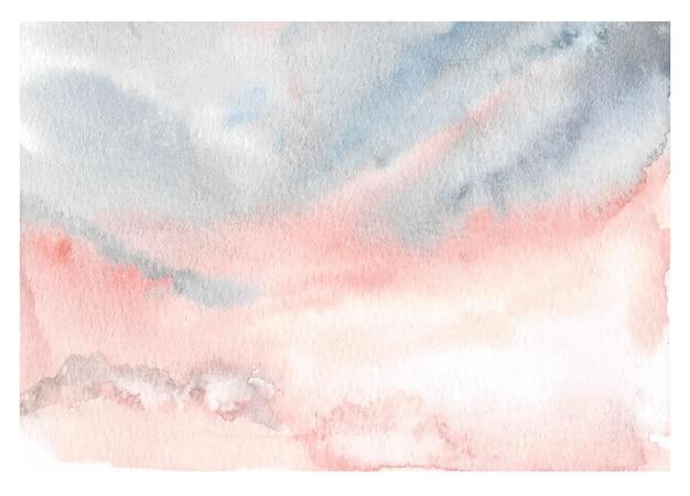 Hand schilderij hemel aquarel achtergrond