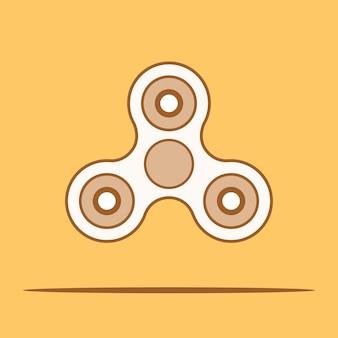 Hand spinner fidget. vectorillustratie.