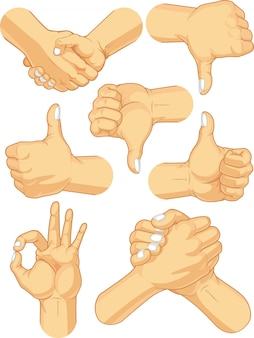 Hand teken collectie - zakelijke gebaren