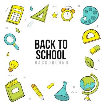 Hand teken terug naar school