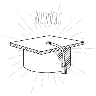 Hand tekenen business school cartoons concept