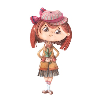Hand tekenen karakter meisje