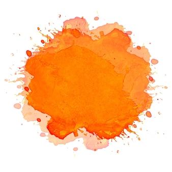 Hand tekenen oranje plons aquarel achtergrond