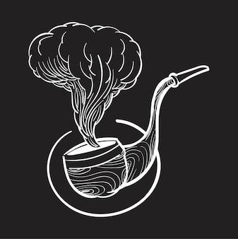Hand tekening illustratie van hipster stijl concept