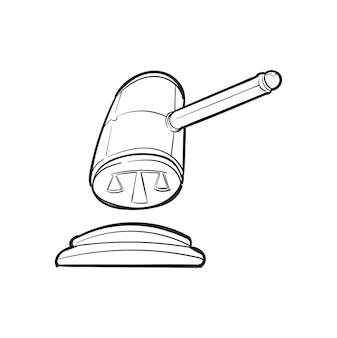 Hand tekening illustratie van justitie concept