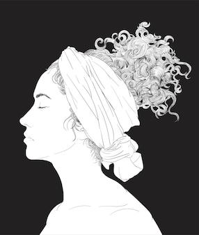 Hand tekening illustratie van menselijk gezicht