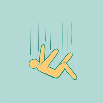 Hand tekening illustratie van mislukken concept