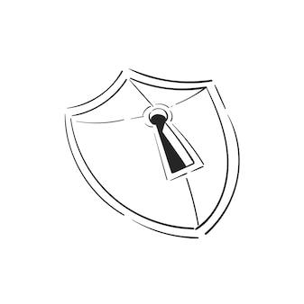 Hand tekening illustratie van veiligheidsconcept