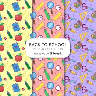 Hand terug getrokken naar school patroon collectie