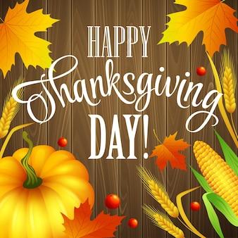 Hand thanksgiving wenskaart