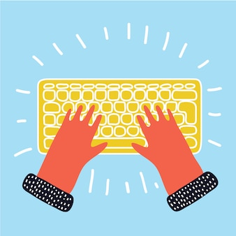 Hand toetsenbord te typen