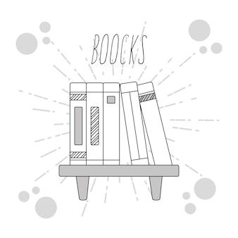 Hand trekt boeken educaties cartoons