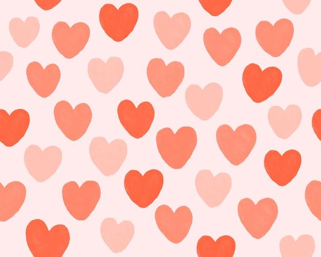 Hand trekt hart patroon achtergrond.