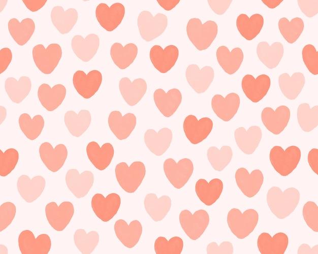 Hand trekt mini hart patroon achtergrond.