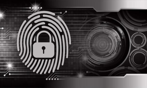Hand vingerafdruk netwerk cyber security achtergrond