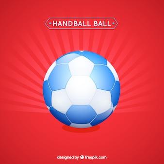 Handbal in vlakke stijl