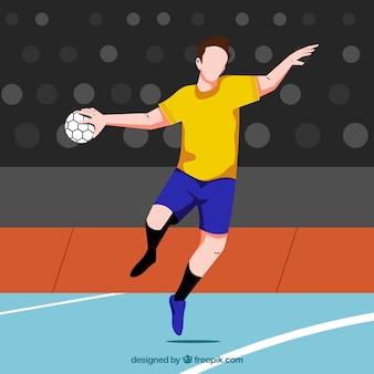 Handbal speler achtergrond