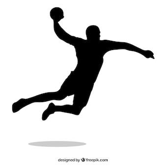 Handbal speler silhouet