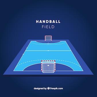 Handbalveld met perspectief