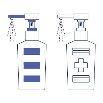 Handdesinfecterend middel antibacteriële vloeistof spuiten dispenser van handdesinfecterend middel vloeibare zeep met ontsmettingsmiddel