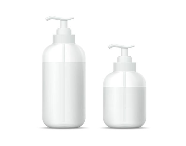 Handdesinfecterende spraygel. hygiënische antiseptische fles tegen bacteriën, schimmels, virussen. capaciteit voor persoonlijke hygiëne en thuisdesinfectie.