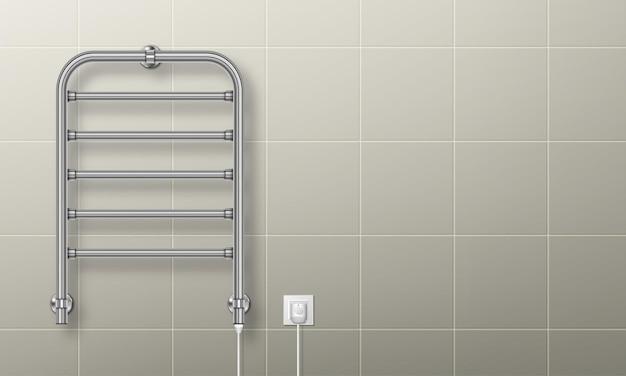Handdoekverwarmer railverwarmer aangesloten op spoeldroger