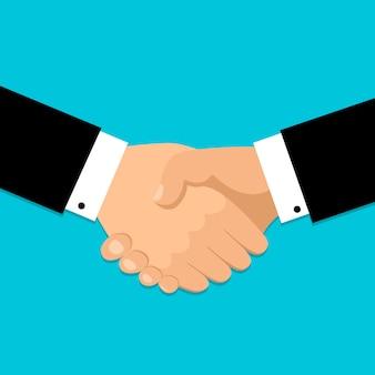 Handdruk pictogram. handen schudden, overeenkomst, goede deal, samenwerkingsconcepten.