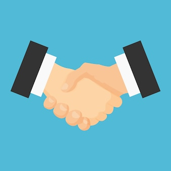 Handdruk platte pictogram. vergadering overeenkomst.