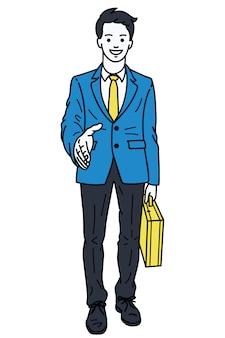 Handdruk zakenman geven