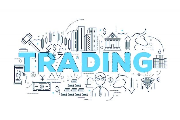 Handel lineair ontwerp