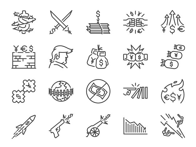 Handel oorlogen pictogramserie.