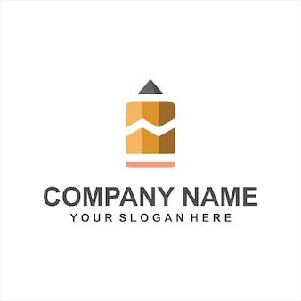 Handel potlood logo vector