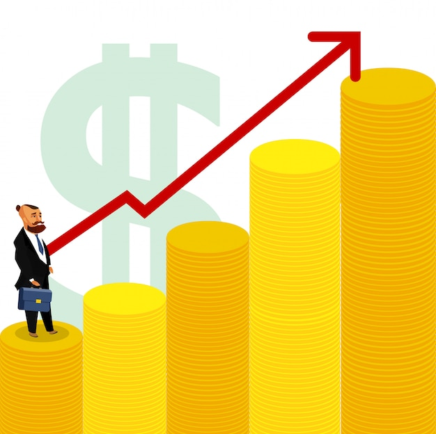 Handelaar broker investor vector drawing