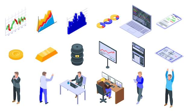 Handelaar pictogrammen instellen