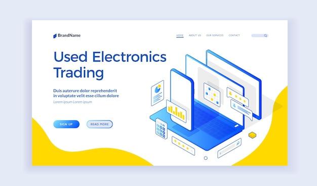 Handelswebsite voor gebruikte elektronica