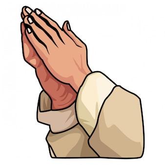 Handen bidden teken