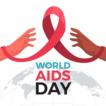 Handen en aids dag evenement lint