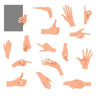 Handen gebaren illustratie geïsoleerd