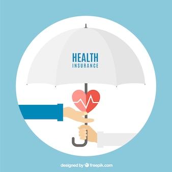 Handen, hart en paraplu