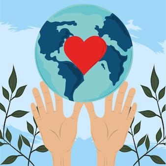 Handen houden van wereld
