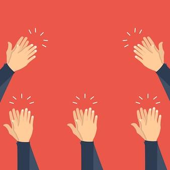 Handen klappen, applaus