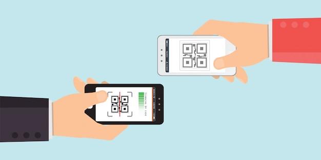 Handen met smartphones