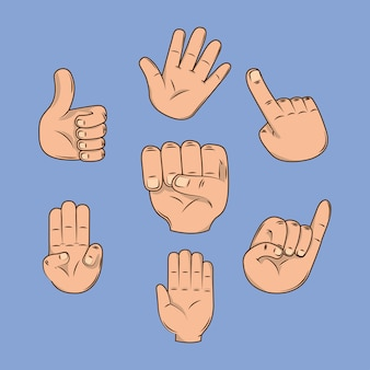 Handen met vingers