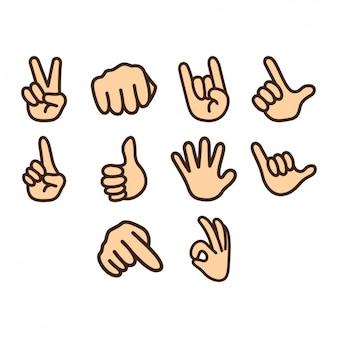 Handen pictogrammen collectie